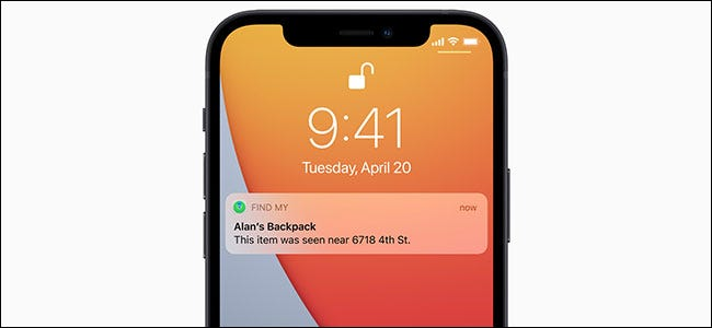 Apple AirTag detection notification