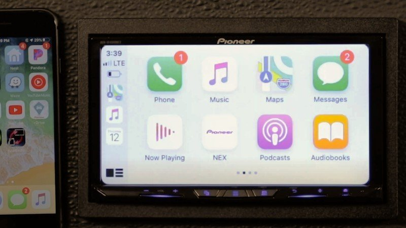 Pioneer Avh W4500nex Car Stereo with CarPlay on display