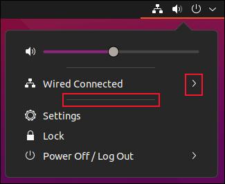 The Ubuntu system menu