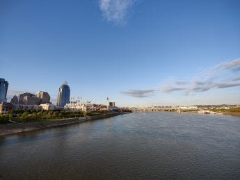 A view of Cincinnati over the river