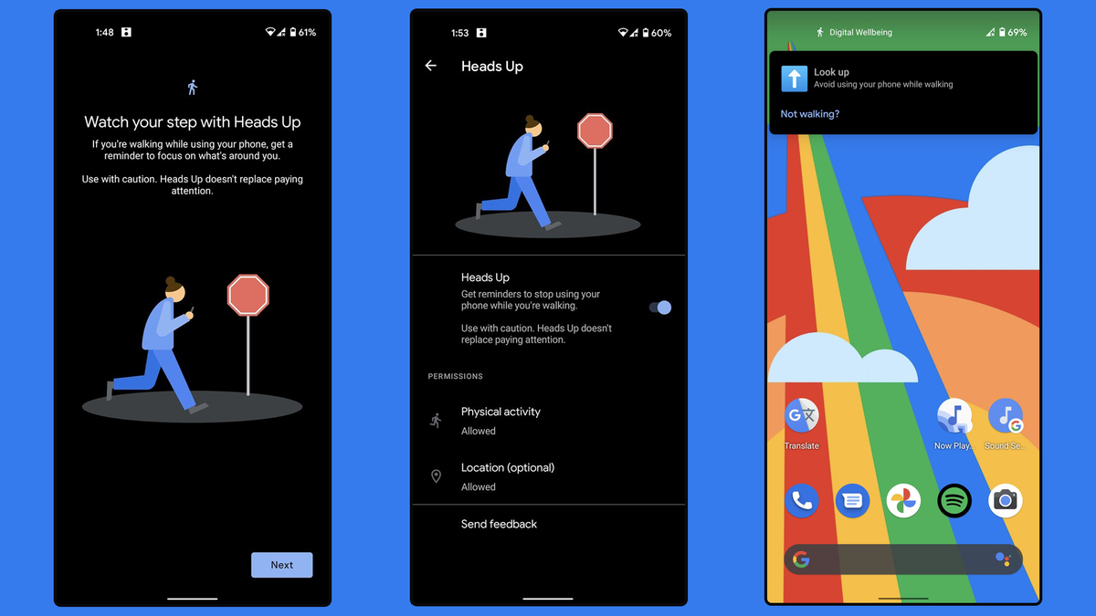 """Android """"Heads Up"""" feature in Digital Wellbeing"""