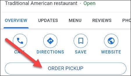 tap order pickup