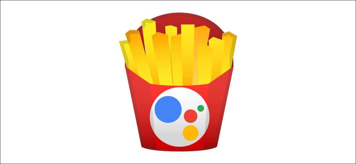 google assistant logo on fries