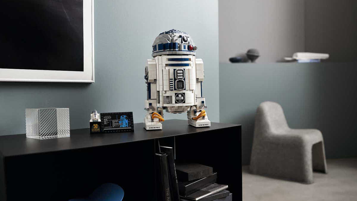 LEGO's new R2D2 set on a table in modern home