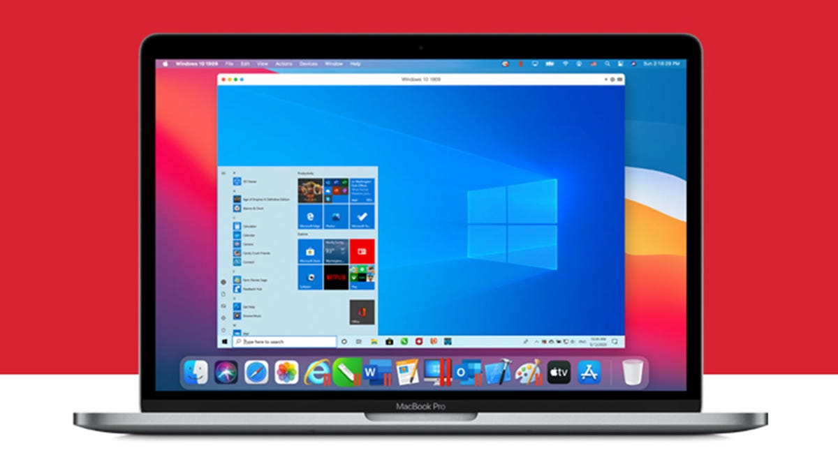An M1 MacBook running Windows 10 through Parallels.