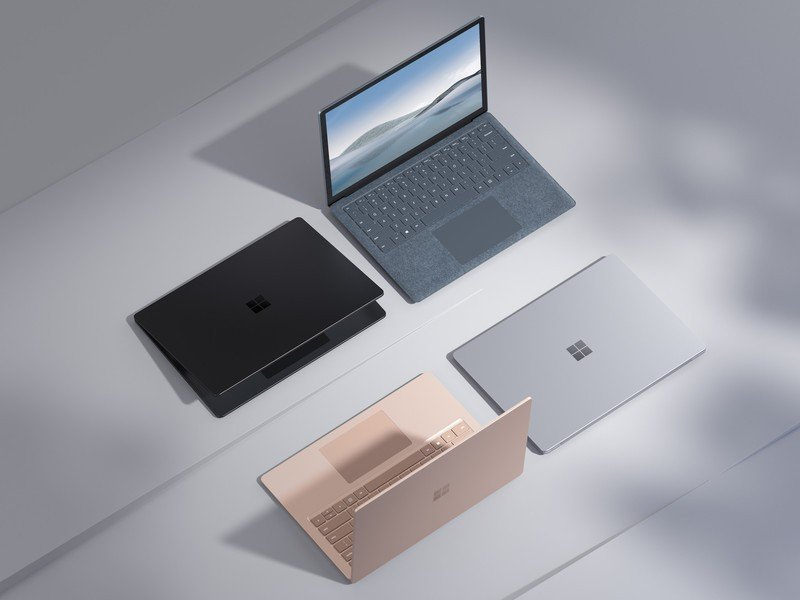 Surface Laptop 4 Family Crop Press