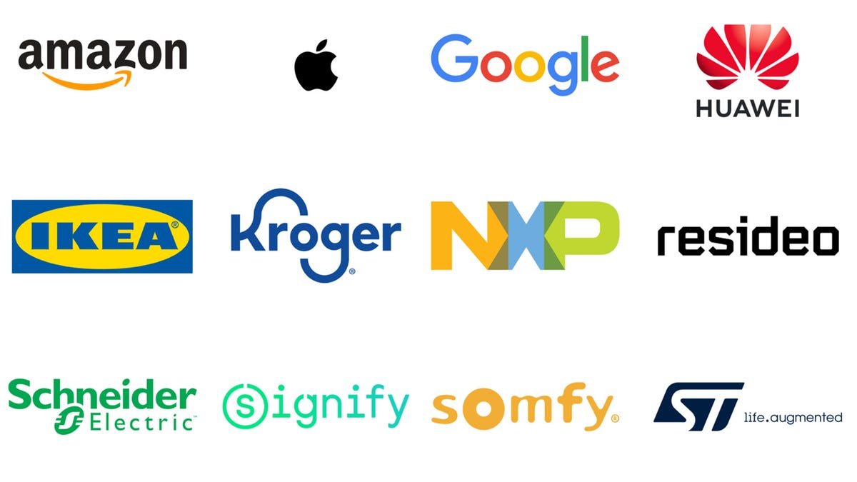 A series of Logos from Amazon, Apple, Google, IKEA, and more