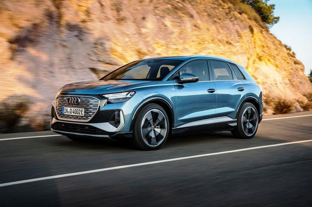 The Audi Q4 e-tron SUV which is due here in June