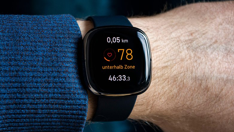 NextPit fitbit sense front heart rate