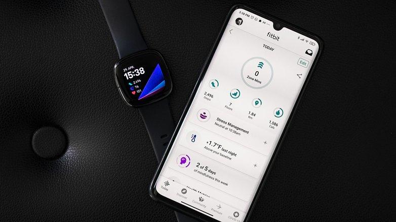 NextPit fitbit sense phone app