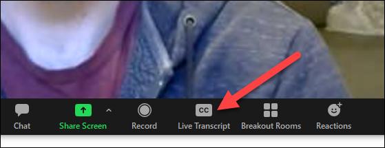 live transcribe button