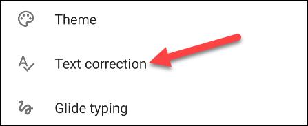 go to text correction