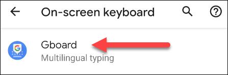 select Gboard