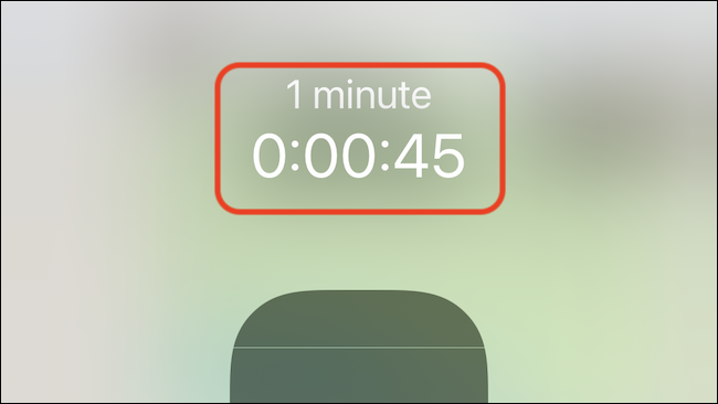 You'll see a timer count-down in the Control Center pop-up.
