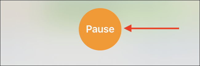 """Tap the """"Pause"""" button in the Timer pop-up to pause the timer."""