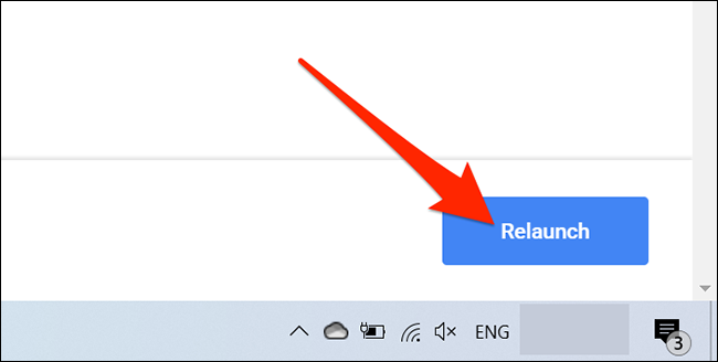 """Click """"Relaunch"""" in Chrome's """"Experiments"""" tab."""
