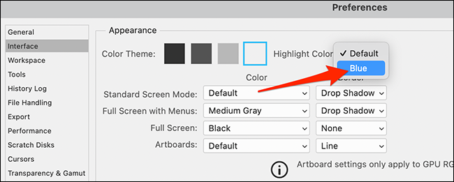 """In the """"Highlight Color"""" menu, choose the color you'd like to use."""