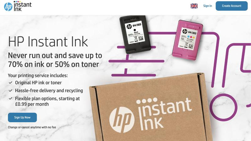 Best printer subscription service: HP Instant Ink