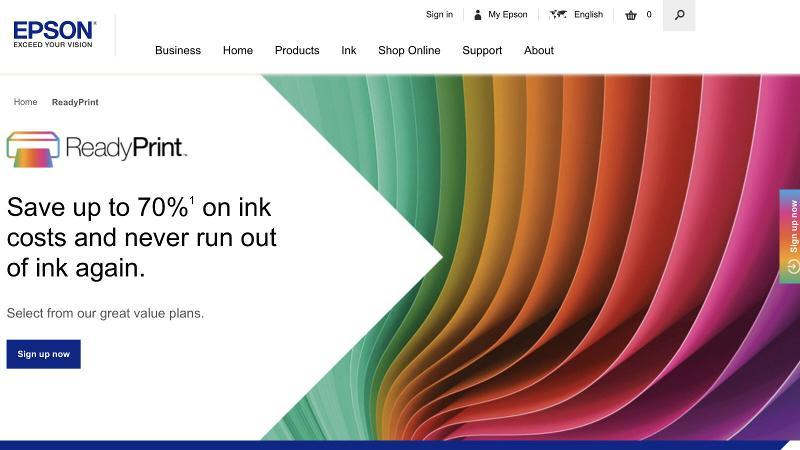 Best Printer Subscription service: Epson ReadyPrint