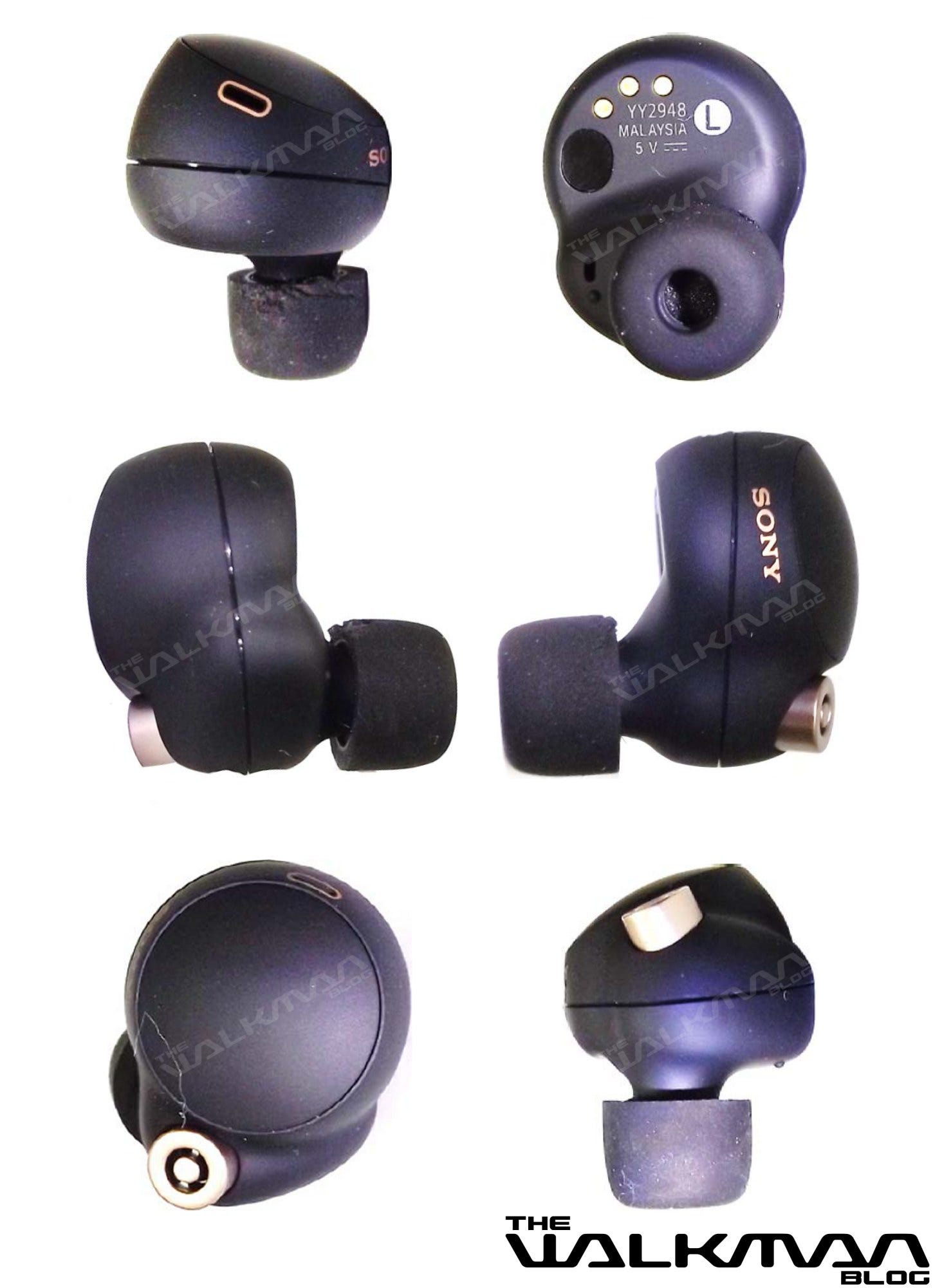 A leaked look at the left Sony WF-1000MX4 earbud