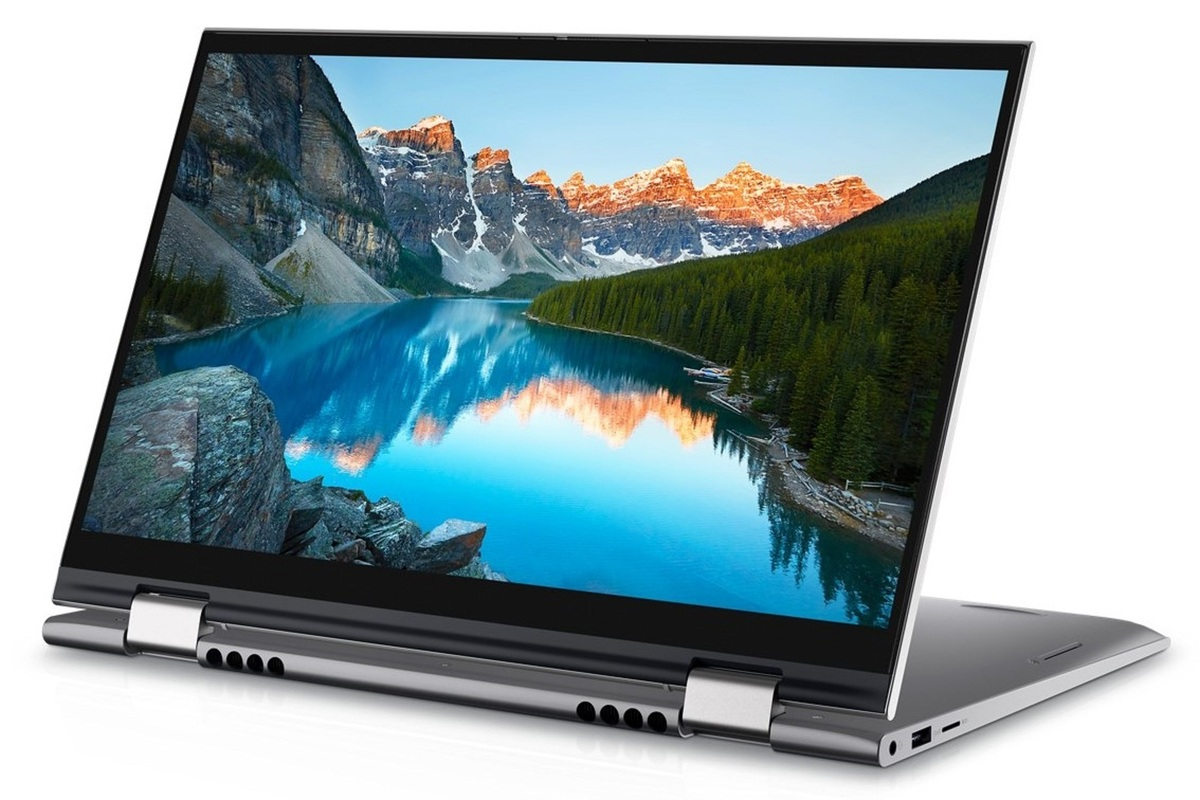 dell inspiron 14 2 in 1 folded 2 angled right
