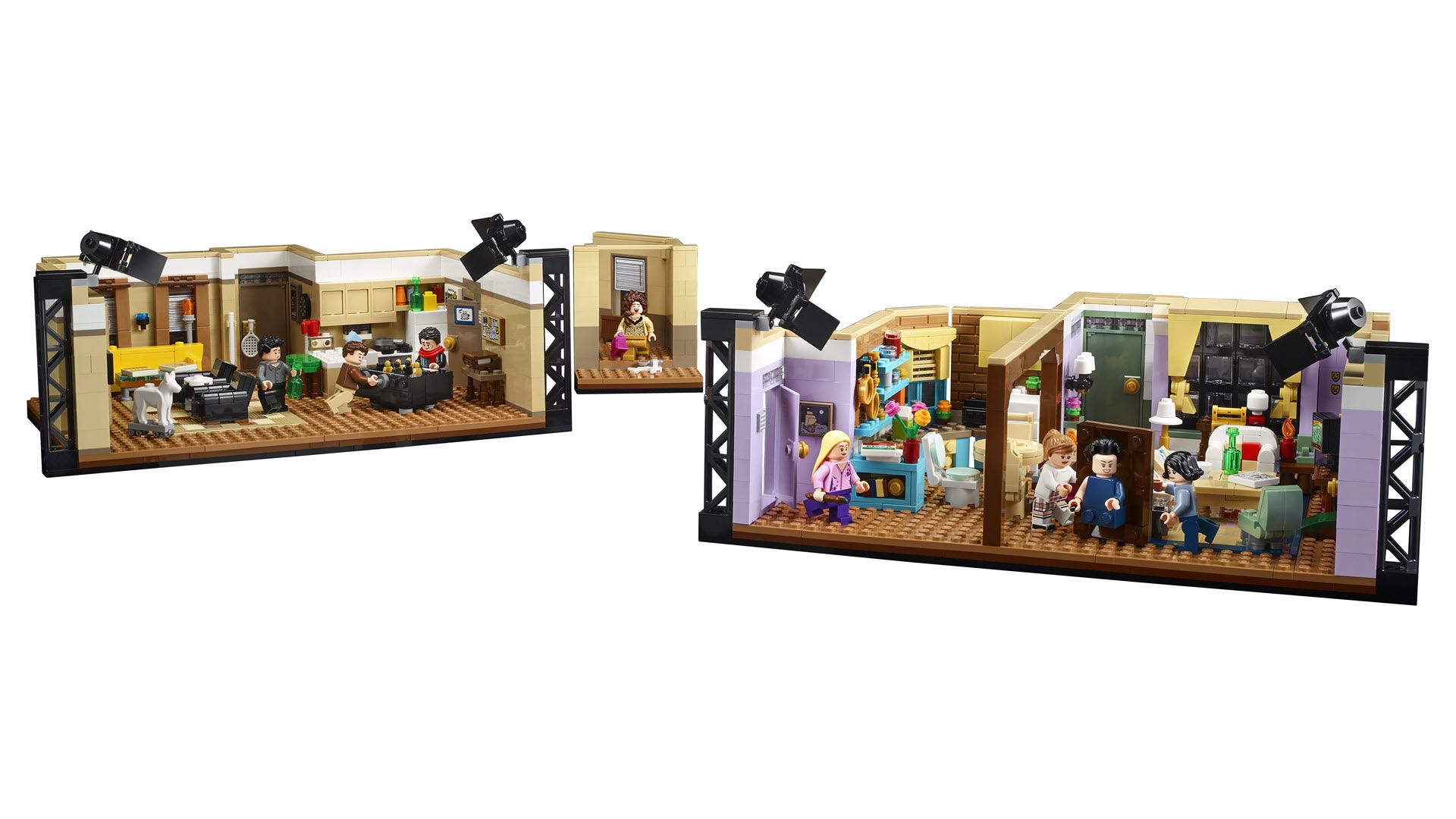 the LEGO apartment set, with an adjoining hallway.
