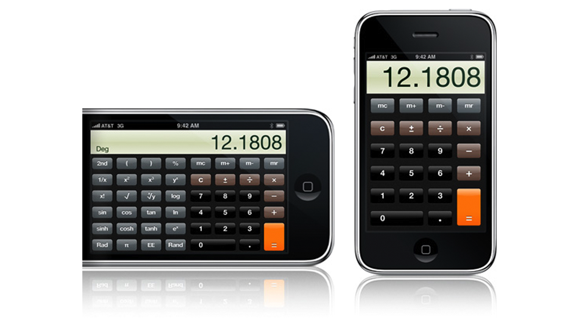 Calculator (2.0) on the iPhone.