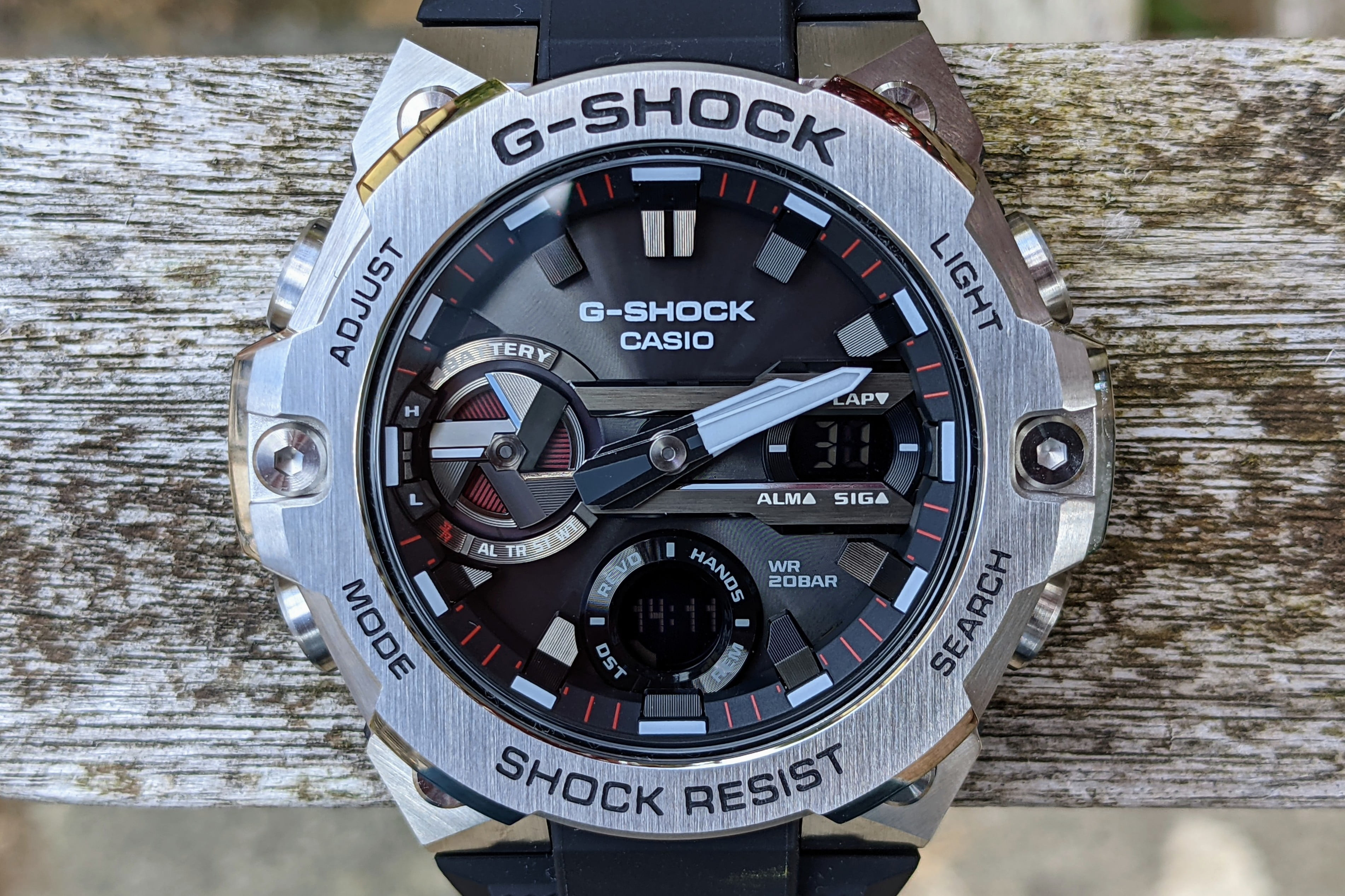 casio g shock steel gst b400 hands on features price photos release date dial close