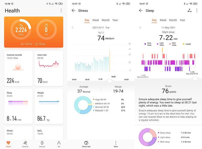 Honor Band 6 Huawei Health app