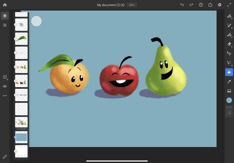 Adobe Fresco Basic Tools Colors