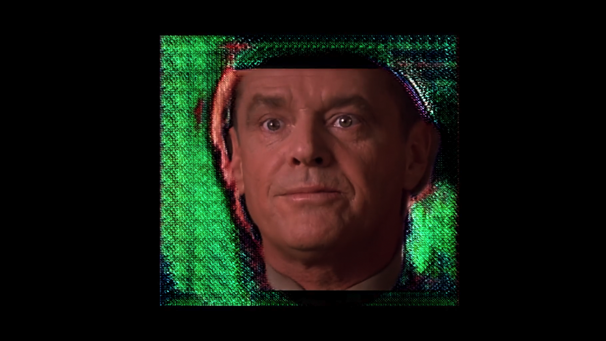 Jack Nicholson soaring through a neural engine like a wad of french fries in a garbage disposal.