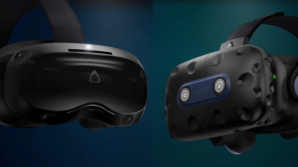 The HTC Focus 3 and the HTC Vive Pro 2 headsets.