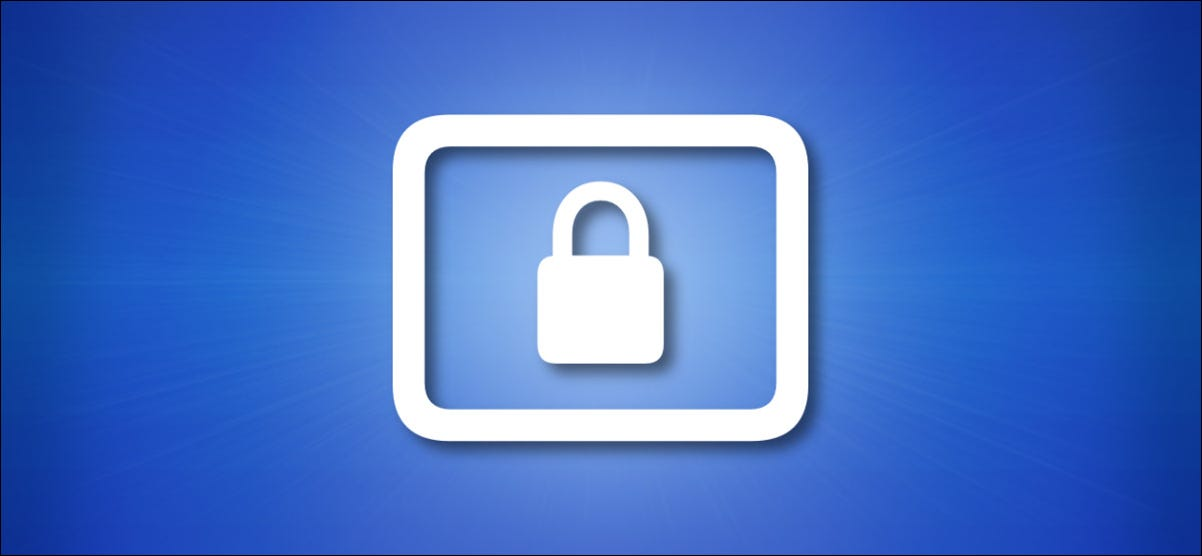 Apple Lock Screen Icon on a blue background