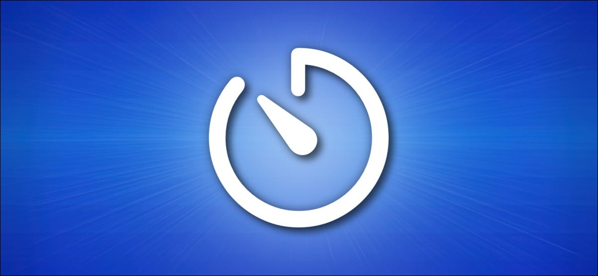 Apple iPhone Timer Icon on Blue