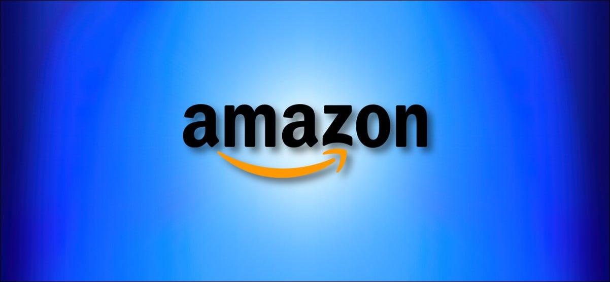 Amazon.com Logo on a Blue Background Hero