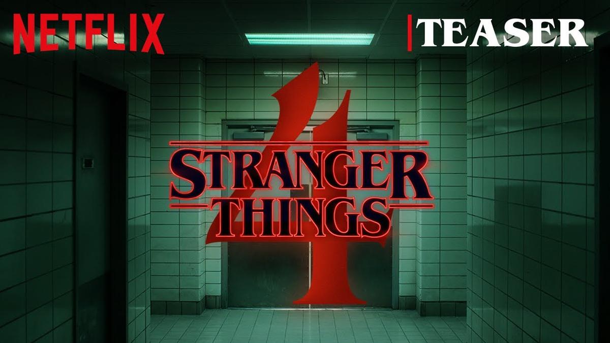 The 'Stranger Things' season 4 teaser banner.