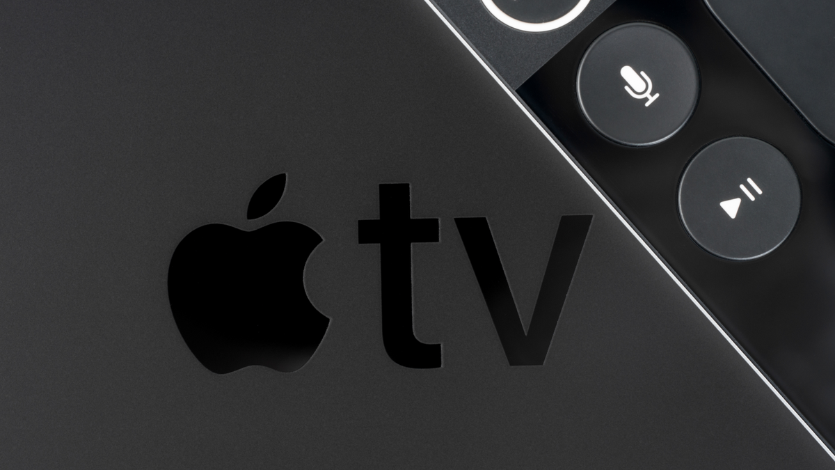 top-down partial view of apple tv 4k
