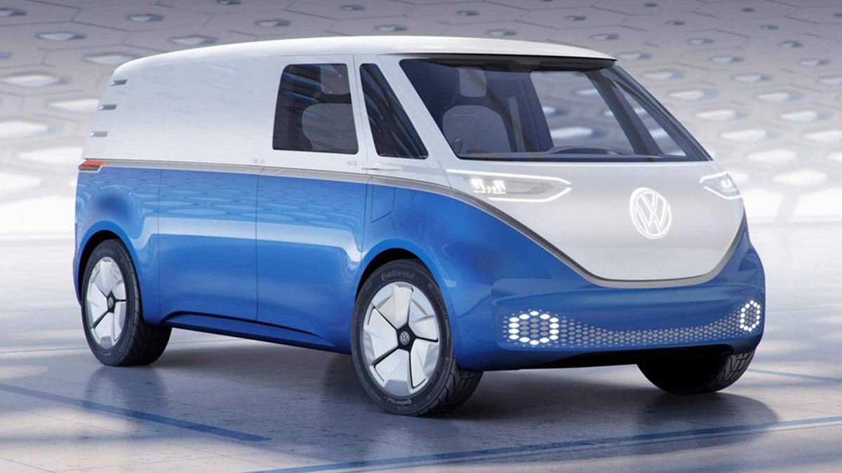 The Volkswagen ID. Buzz electric van