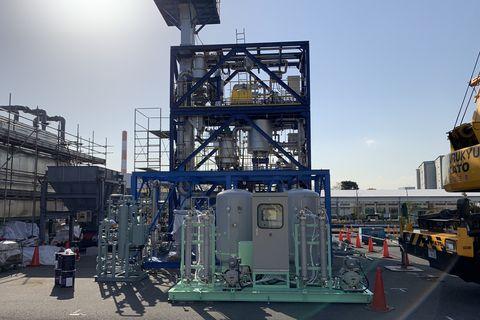 a ways2h hydrogen fuel processing plant