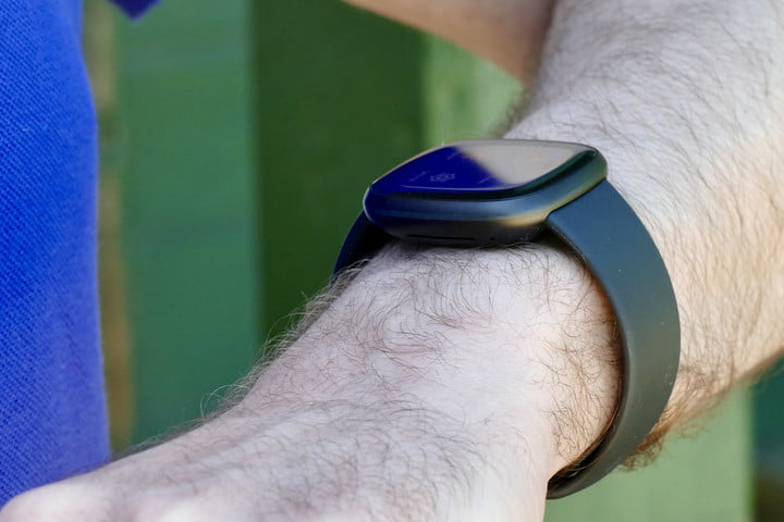 Fitbit Versa 3 from the side