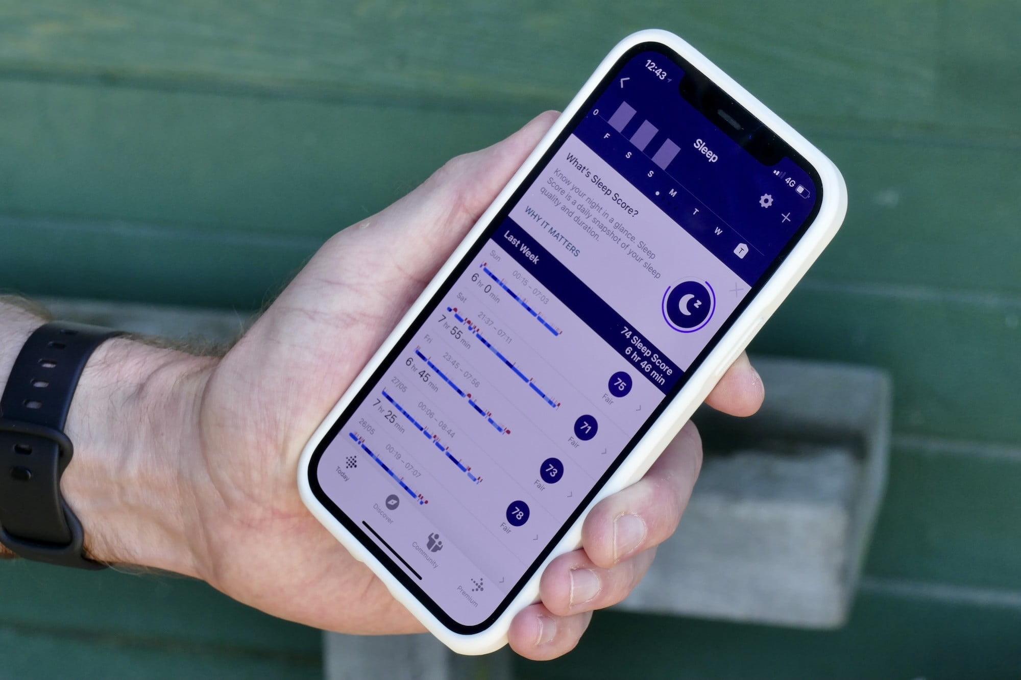 fitbit versa 3 review app sleep