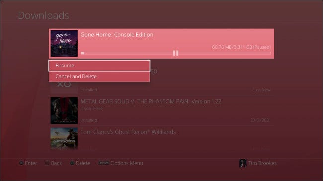 Pause and Resume PS4 Download