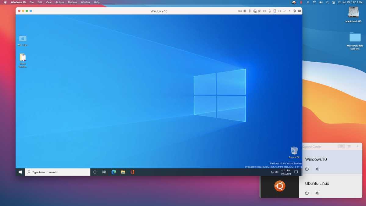 Windows 10 on an M1 Mac mini