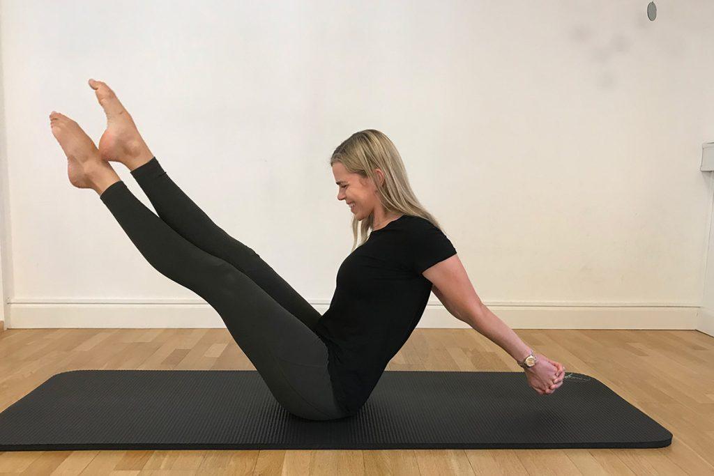 Pilates øvet