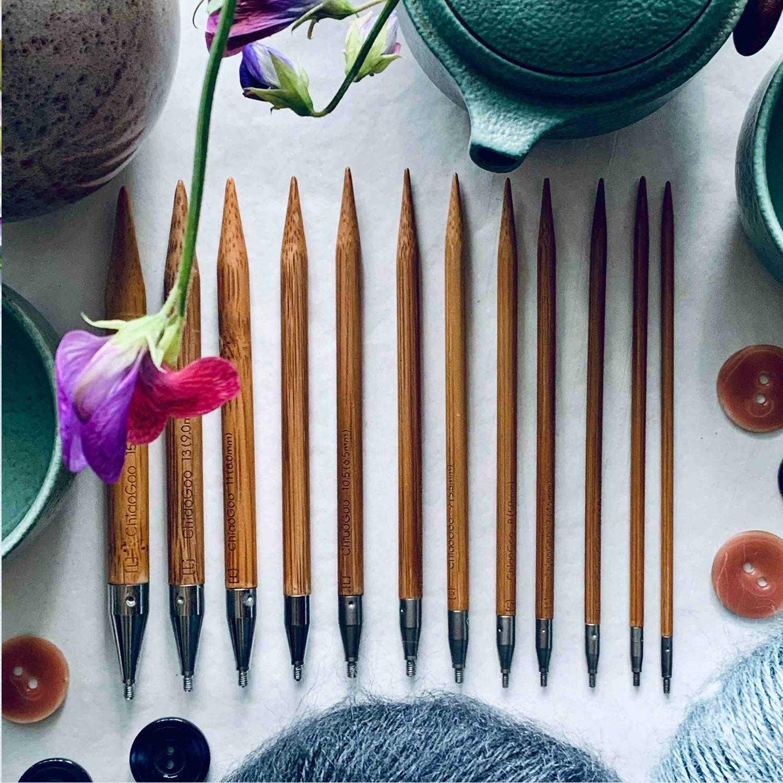 Chiaogoo strikkepinde bambus pindespidser
