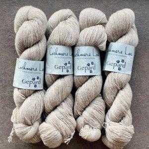 Gepard garn - cashmere lace - beige meleret