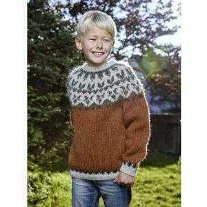 Istex strikkeopskrift - Afleggjari - islandsk sweater til børn