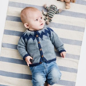 Strikkeopskrift Onion - Babytrøje med nordisk mønster onion