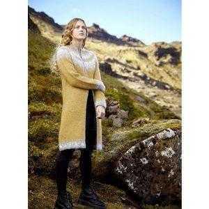 Istex strikkeopskrift Gleði - islandsk cardigan