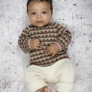 Strikkeopskrift ONION - mønstertrøje II baby og børn onion